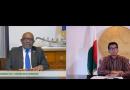 الرئيسان غزالي وآندري راجويلينا يبحثان الجهود المشتركة لمواجهة جائحة كورونا